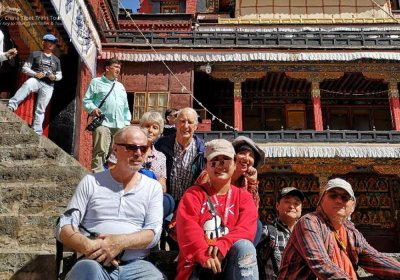 Traveler photo: Our clients were exploring the ancient Drepung Monastery. (August 2020)