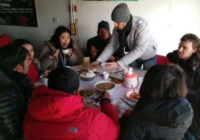 Traveler photo: We were enjoying our lunch in a restaurant of Tibet. (January 2020)