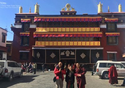 Traveler photo: We visited a sacred monastery and took a picture with a monk. (January 2020)