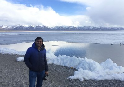 Traveler photo: Having a visit to the holy Namtso Lake in winter Tibet. (January 2020)