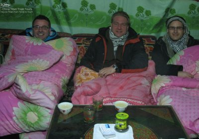 Traveler photo: Felt warm in the Rongbuk Tent Guest House even it was in Winter in Tibet. (January 2020)