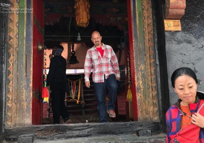 Traveler photo: Paying a visit to Maitreya Temple on a sunny afternoon with tour guide Estol. (July 2020)