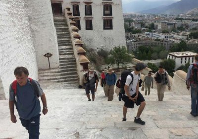 Traveler photo: Climbing the long stairs to visit the Potala Palace in our first Lhasa tour. (June 2020)