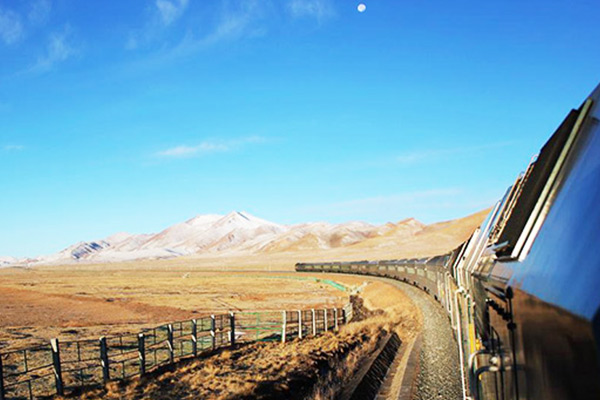 Riding On The Tibet Train Travel Along The Roof Of The