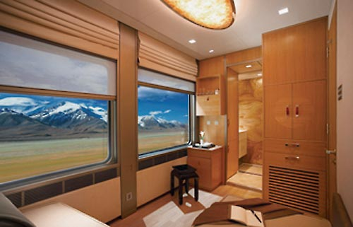 The suite on Tanggula Luxury Train