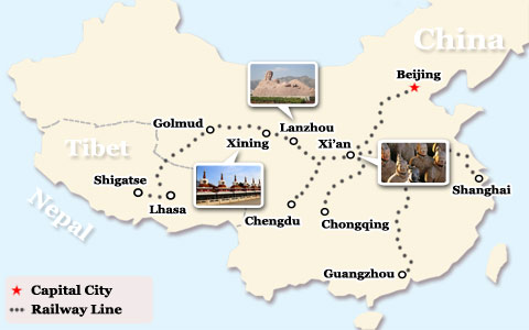 Can I Break My Train Journey to Lhasa at Some Sites