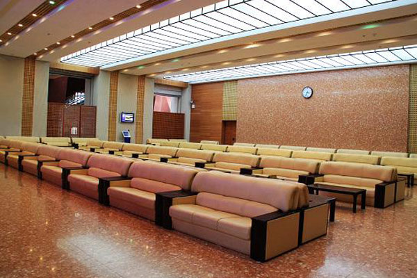 Soft-seated waiting rooms