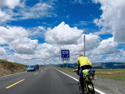 23 Days Cycling Tour from Chengdu to Lhasa via Sichuan-Tibet Highway