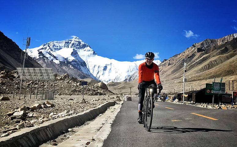 Cycling to Everest Base Camp to See the Top of the World