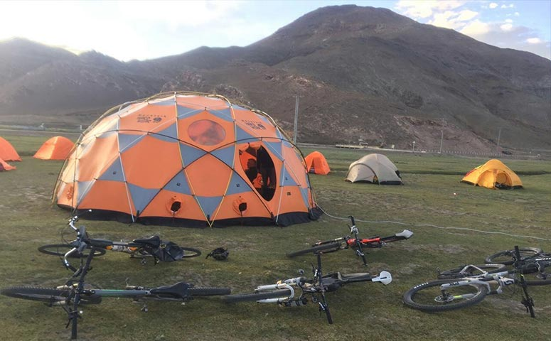 Camping during Your Tibet Cycling Tour