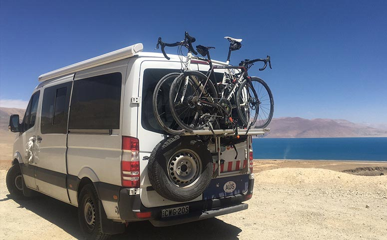 Support Vehicle for Our Tibet Cycling Tour