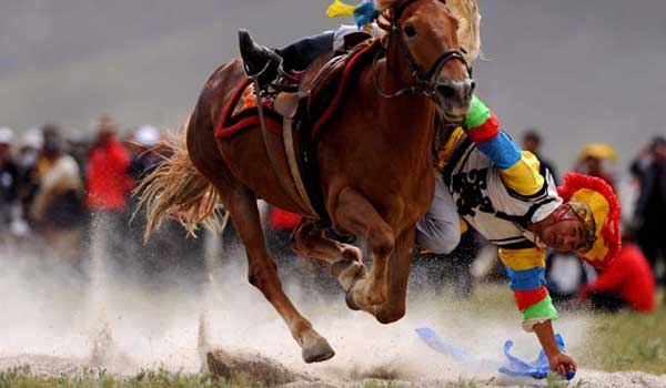 The damxung horse festival was originally created to celebrate the harvest