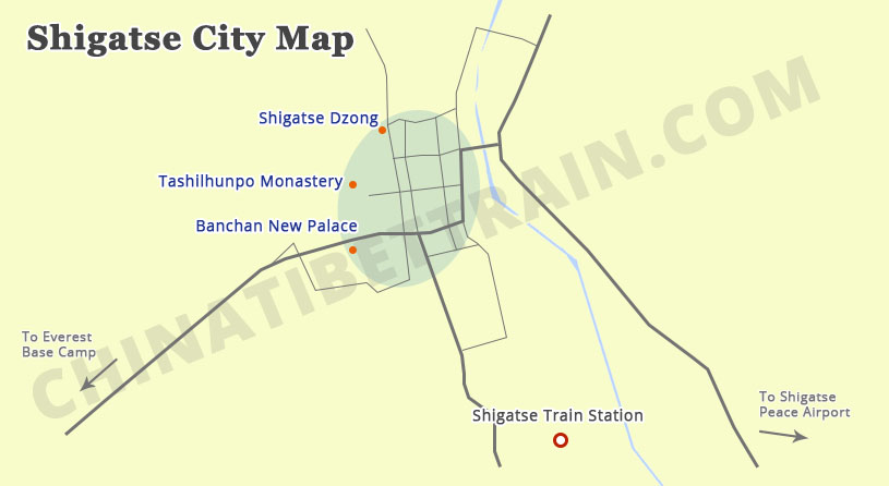 Shigatse City Map
