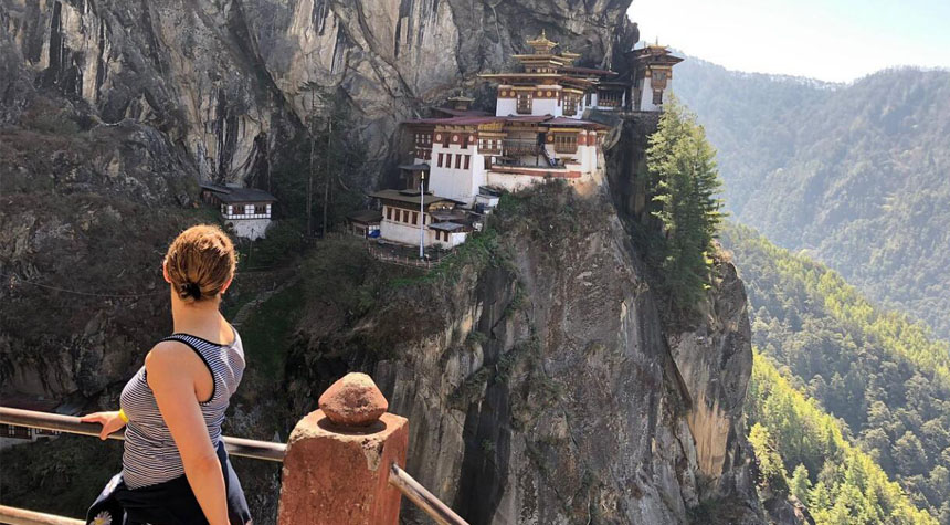 Enjoy a scenic hike to Tiger's Nest Monastery