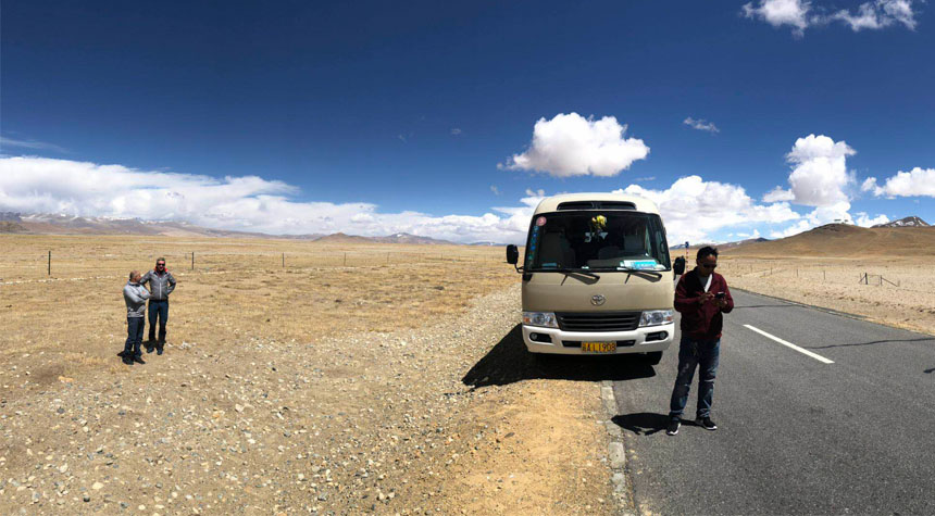 Make a stop while traveling overland from Lhasa to Kathmandu