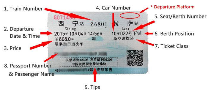 Tibet Train Ticket   China Railway Tickets
