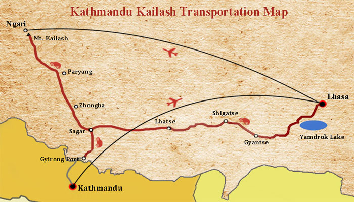 Gyirong to Kailash Manasarovar Route