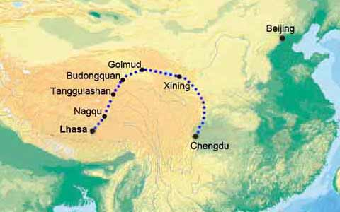 Chengdu to Lhasa Train