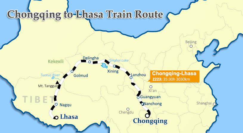 Chongqing to Lhasa by train China Tibet Train