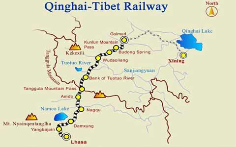 Golmud to Lhasa Train