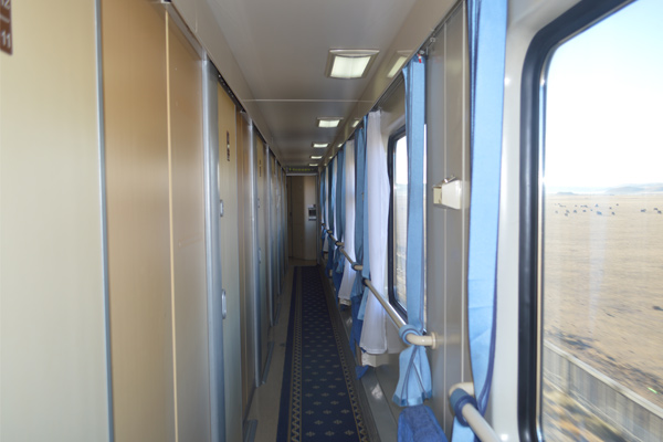 Soft sleeper cabin on Beijing-Xining train
