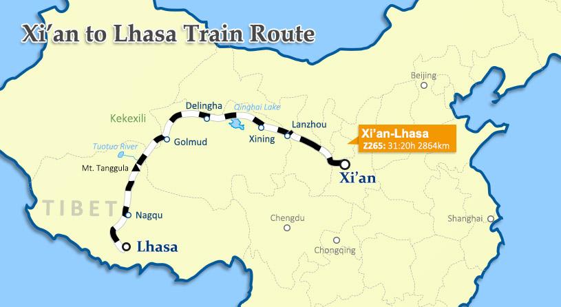 Xi\'an to Lhasa by train - China Tibet Train