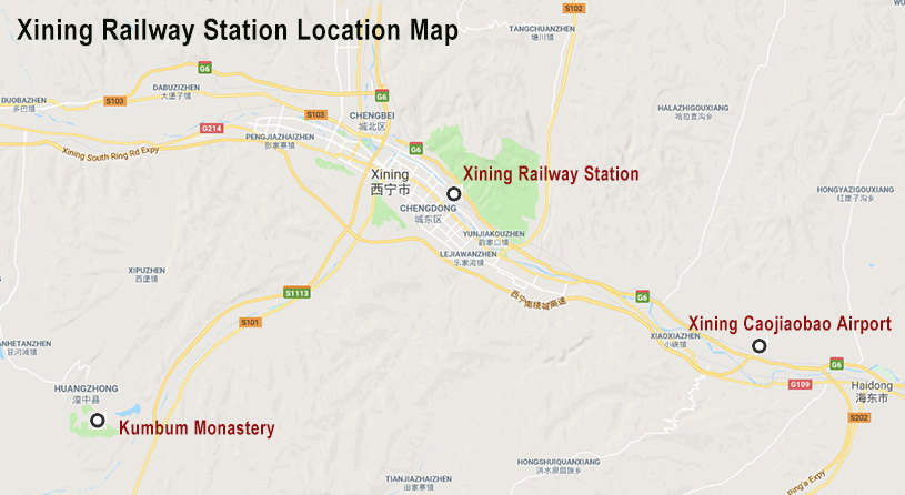 Xining Railway Station Map