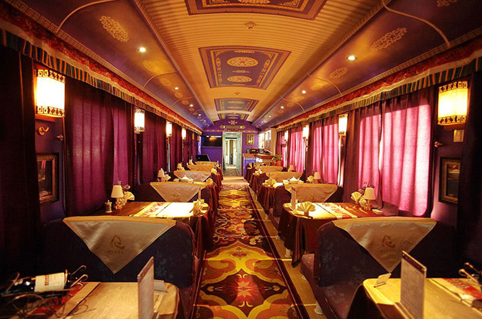 Lhasa Shigatse Train Dining Car