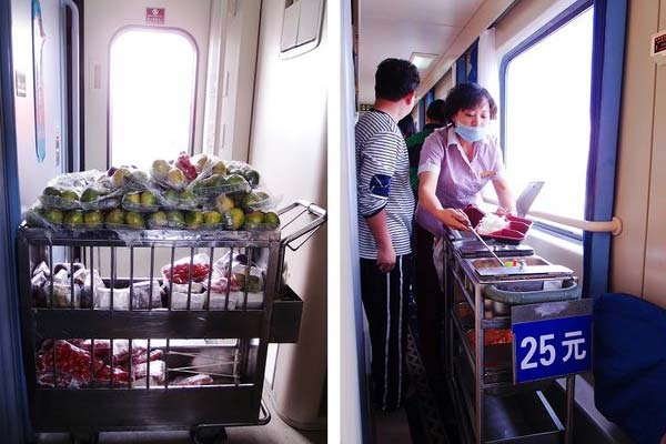Food Trolley on Tibet Trains