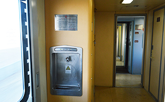 Water dispensers on Tibet trains