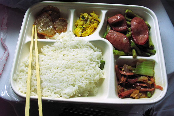 Set meals offered in dining car