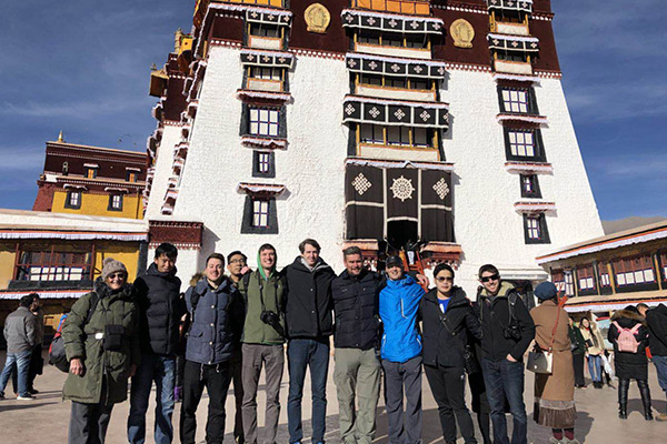Group Photo Taken in the Eastern Courtyard of Potala Palace