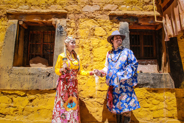 Wedding Photos with Traditional Tibetan Costumes