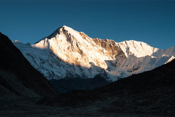 Mount Cho Oyu is the sixth highest mountain in the world