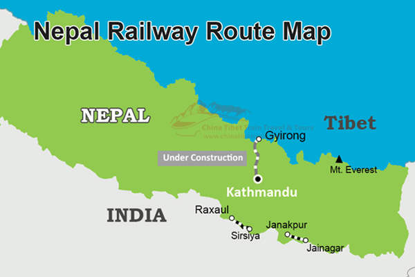Nepal Railway Route Map