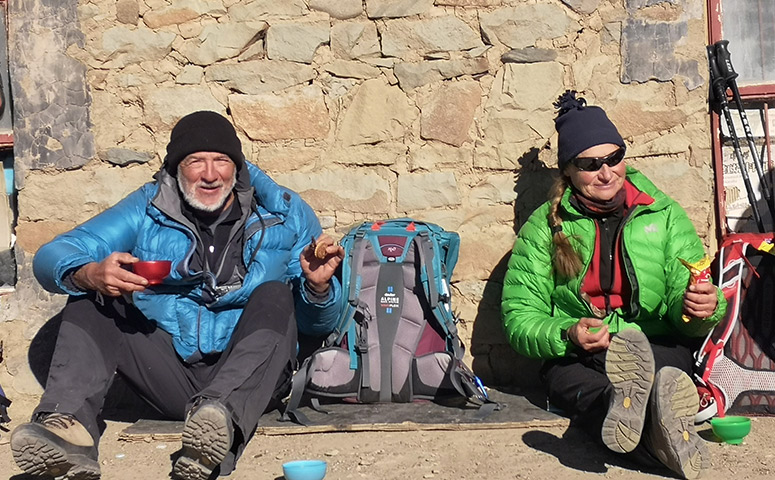 One of our senior clients joined the trekking in Tibet.