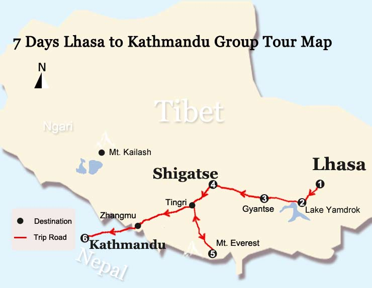 8 Days Tibet Everest Small Group Tour Lhasa To Everest