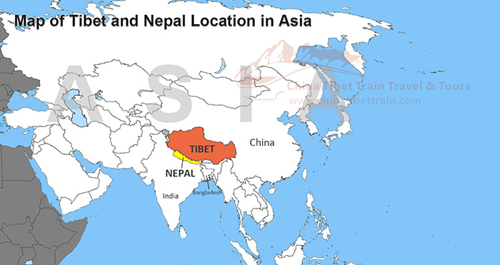 Nepal Tibet Karte.Tibet And Nepal Travel Maps Where Is Tibet And Nepal And How To