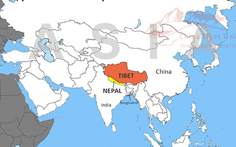 Tibet and Nepal Travel Maps: Where is Tibet and Nepal and How to Travel Them Together