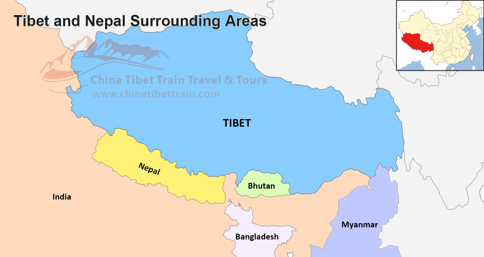 World Map Napal.Tibet And Nepal Travel Maps Where Is Tibet And Nepal And How To