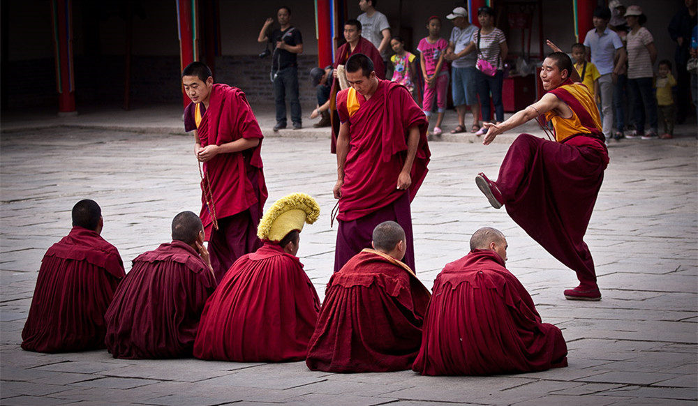 Monks Debate over Buddhist Scriptures