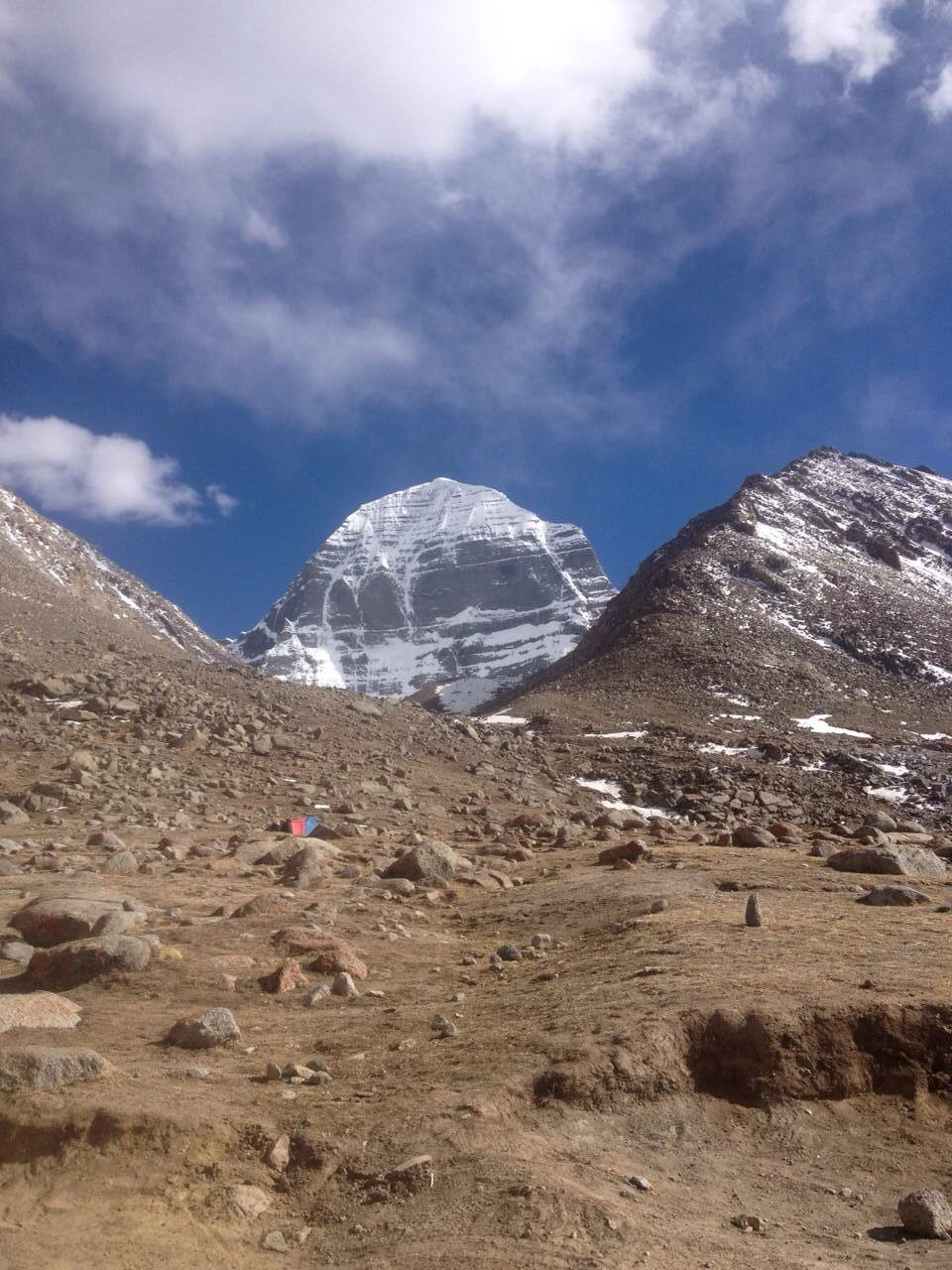 A far view of Mt. Kailash