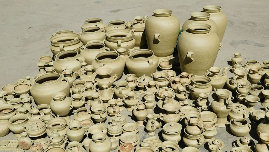 Pots made by villagers