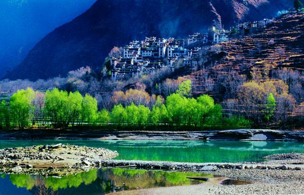 Danba Beauty Valley located in the Danba County of Garze Tibetan Autonomous Prefecture in Sichuan Province.