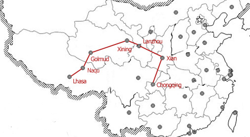 chongqing to lhasa by train