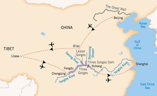 shanghai to tibet by air
